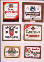 Old beer bottle Beer labels Germany 3 pages  #026